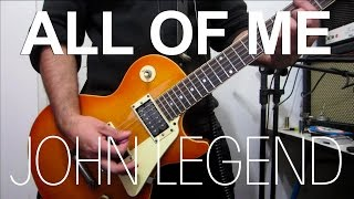 All of me - John Legend | electric guitar cover (instrumental & backing track)