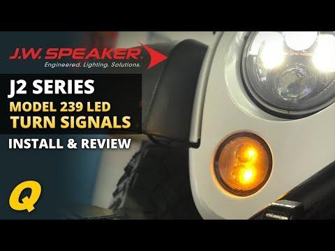 JW Speaker 239 J2 LED Turn Signals Review & Install for 2007-2018 Jeep Wrangler JK