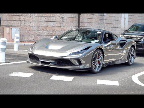 Ferrari F8 Tributo Driving on the Road in Monaco !