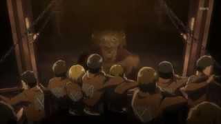 Attack On Titan (Shingeki no Kyojin)- epic plan to take out titans EP8 ENG SUB