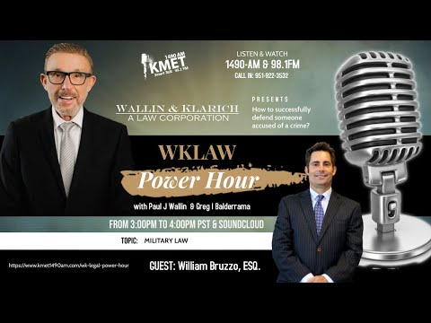WK Law Power Hour | How a Criminal Defense Attorney Successfully Defends a Client | Military Law