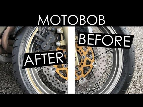 Applying Gold Motorcycle Rim Tape & Dust Caps