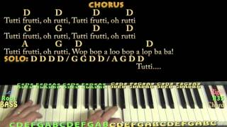 Tutti Frutti (Little Richard) Piano Cover Lesson in D with Chords/Lyrics