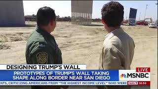 Illegal Immigrants Jump Over Border Fence as MSNBC Reports on Wall Construction