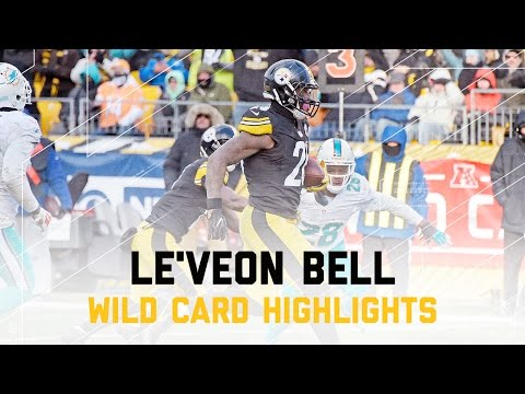 Le'Veon Bell Totals 174 Yards! | Dolphins vs. Steelers | NFL Wild Card Player Highlights