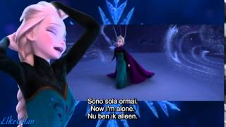 Frozen - Let It Go (Italian) With English and Dutch Translation