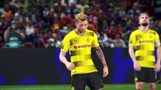 PES 2018 - PS4 Pro Preview - 4K - Barcelona Dortmund 1