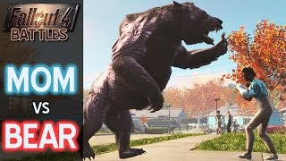 Mom vs Bear • Fallout 4 Battles • Punching with a Baby