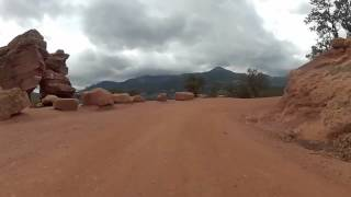 The Lower Section of Rampart Range Road In Garden Of The Gods