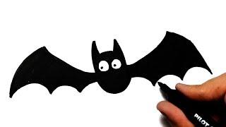 COMO DESENHAR UM MORCEGO DE HALLOWEEN - HOW TO DRAW A BAT OF HALLOWEEN