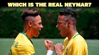 Neymar Jr. comes face to face with Madame Tussauds Figure width=
