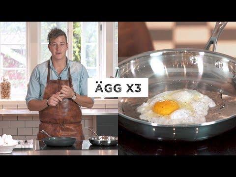 Välstekt med Scanpan - Ägg x3 (stekt ägg, äggröra & fransk omelett)