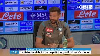 SSC Napoli, la presentazione ufficiale di Fernando Llorente
