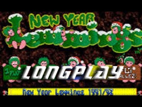 New Year Lemmings 1992 (Commodore Amiga) Longplay