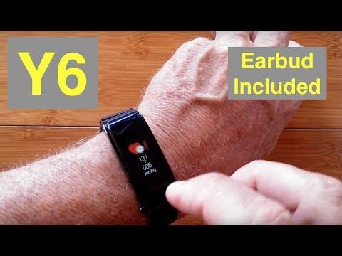 Y6 Combo Smart Bracelet / Earphone, Blood Pressure, Fitness Tracker: Unboxing and 1st Look