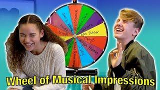 Wheel of Musical Impressions! (MattyBRaps vs Gracie Haschak)