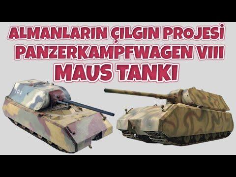 ALMANLARIN ÇILGIN PROJESİ PANZERKAMPFWAGEN VIII MAUS TANKI 2. dünya savaşı tarihi