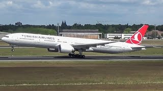 Turkish Airlines Boeing 777-300ER takeoff in Berlin Tegel! (FULL HD!)