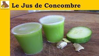Le jus de concombre (recette rapide et facile)