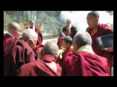 Tulku Urgyen Yangsi Rinpoche at Nagi Gompa Nepal.wmv