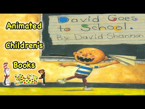 David Goes to School - Animated Children's Book - YouTube