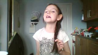 wicked words cover  by 9 year old mia