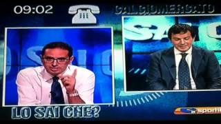 """Sporitalia - Tifoso Romanista a Pedullà: """"C'hai un topo morto in testa!Fate sdoccià!"""""""