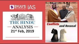 'The Hindu' Analysis for 21st Feb, 2019. (Current Affairs for UPSC/IAS )