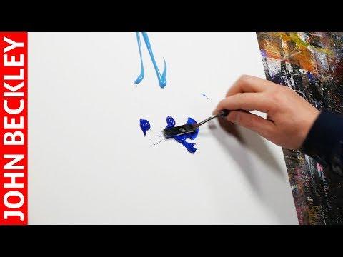 Peinture Abstraite Au Couteau À l'Acrylique | Resero