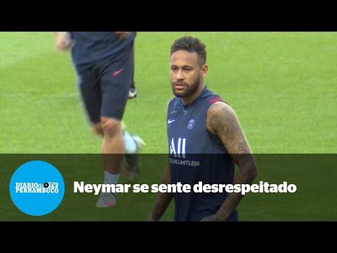 Neymar diz que se sente desrespeitado