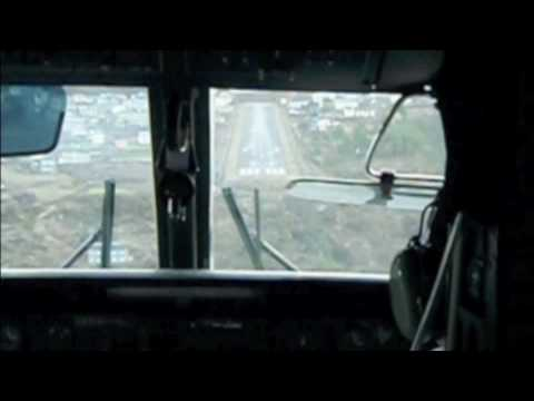 Landing at Lukla Airport Video