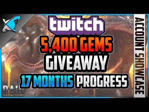 *17 MONTHS (F2P) PROGRESS* | Twitch *5,400 GEMS* Giveaway | RAID: Shadow Legends