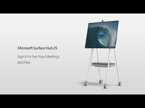 Microsoft Surface Hub 2S   Sign In To See Your Meetings and Files