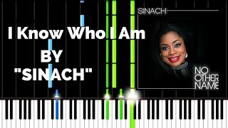 SINACH - I KNOW WHO I AM | Lyrics | Synthesia Piano Tutorial