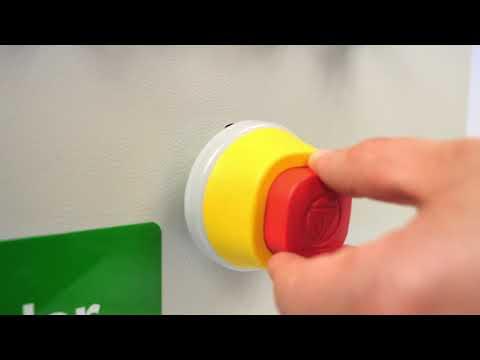 Hvordan monterer du et Harmony nødstop med LED | Schneider Electric