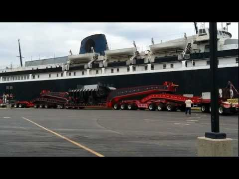 Huge Oversize Preparing To Board The S.S. Badger (Part 1 of 2)