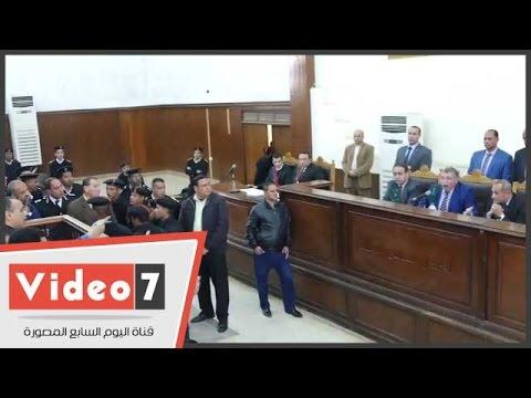"""بالفيديو.. قاضى """"فض رابعة"""" يرفع الجلسة بعد تمسك دفاع المتهمين بعرض"""" فلاشة"""" مدتها 7 ساعات"""