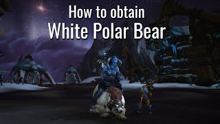 Reins Of The White Polar Bear Item World Of Warcraft