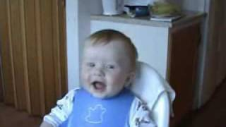 Lachende baby Laughing baby