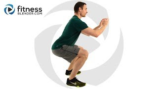 20 Minute HIIT Workout with Warm Up and Cool Down - At Home HIIT Video