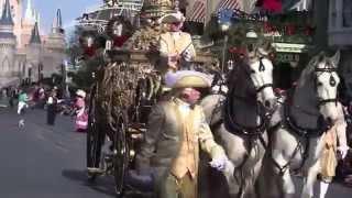 Cinderella live action movie carriage pre-parade at Walt Disney World