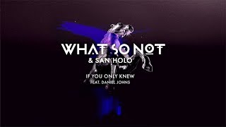 What So Not & San Holo - If You Only Knew (feat. Daniel Johns) [Official Audio]