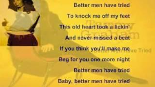 Tammy Graham - Better Men Have Tried ( + lyrics 1997)