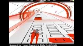 Audiosurf   Naruto Opening 6 No Boy No Cry