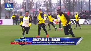 Bolt Train With Central Coast Mariners |Sports This Morning|