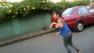 Bakla nahuli ng nanay tumatambling sa kalsada ginarote at muntik pang masagasaan .epic fail haha