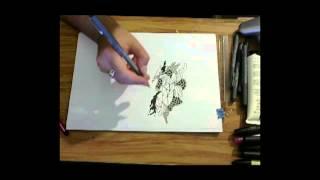 Foxko Creates: Free flow pen doodle drawing 1