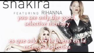 Shakira ft Rihanna - Can't Remember To Forget You (Lyrics & Español)