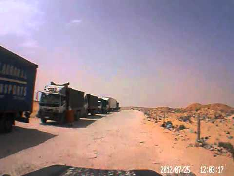 Dash cam video of Morocco Border to Nouadhibou (Mauritania) – part 1