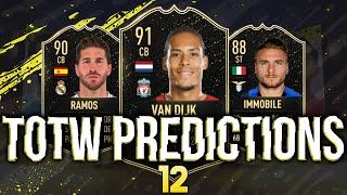 FIFA 20 | TOTW 12 PREDICTIONS | FT. VAN DIJK